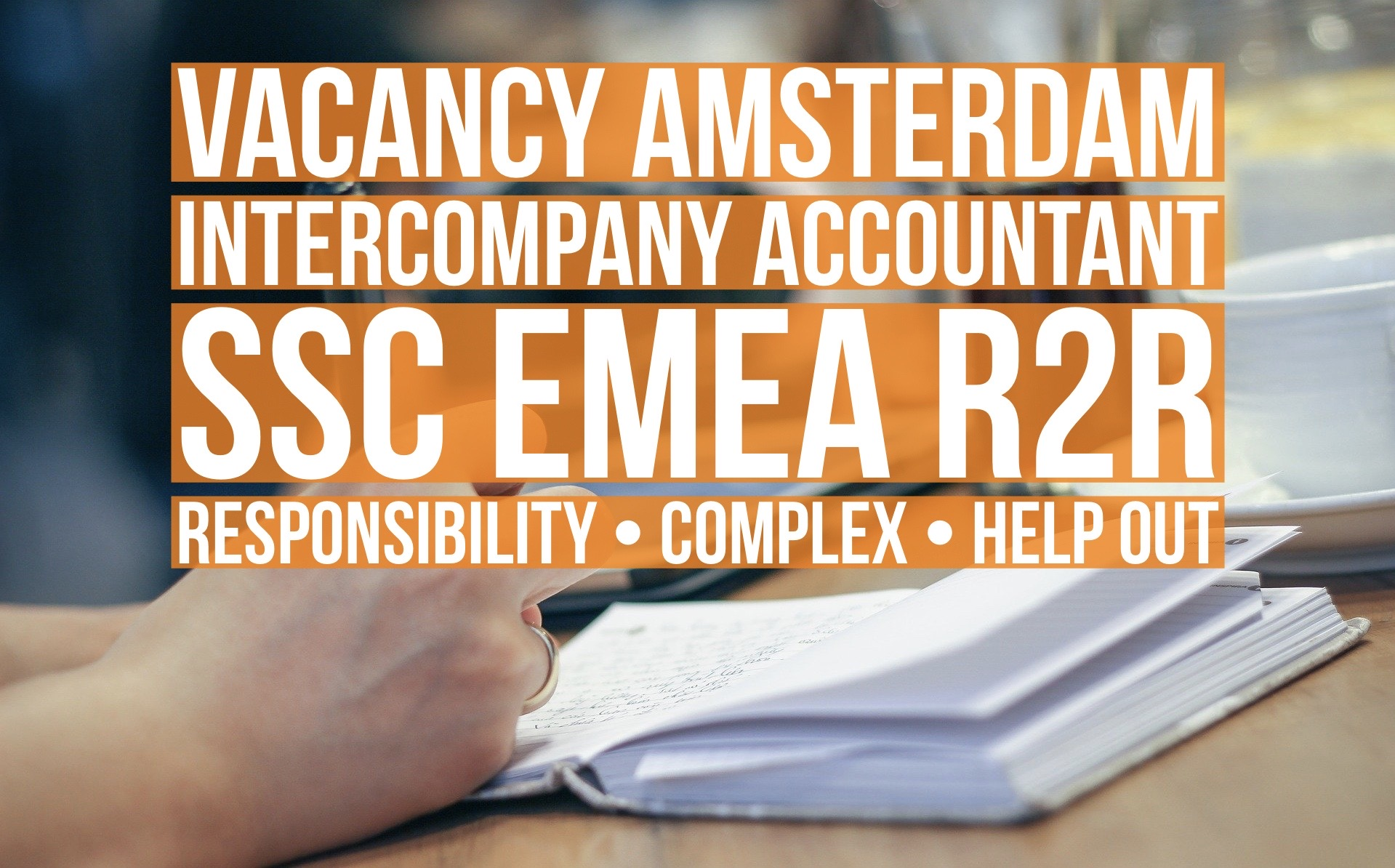 Intercompany accountant emea ssc r2r vacancy Amsterdam
