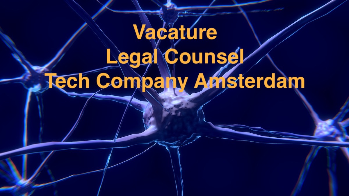 Legal Counsel Tech Company vacature Amsterdam