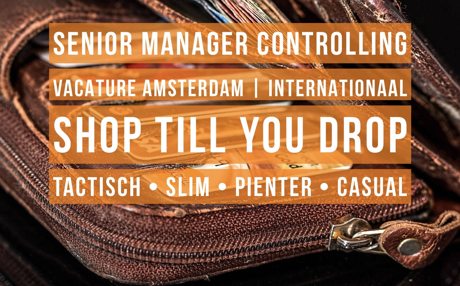 Senior Manager Controlling vacature Amsterdam internationaal retail