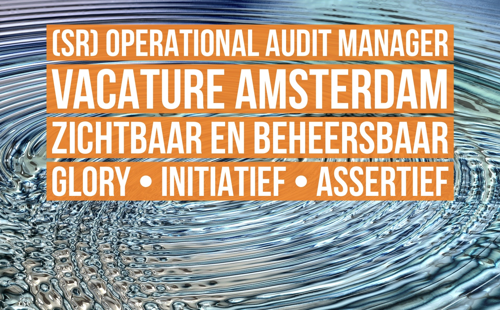 Senior Operational Audit Manager vacature Amsterdam