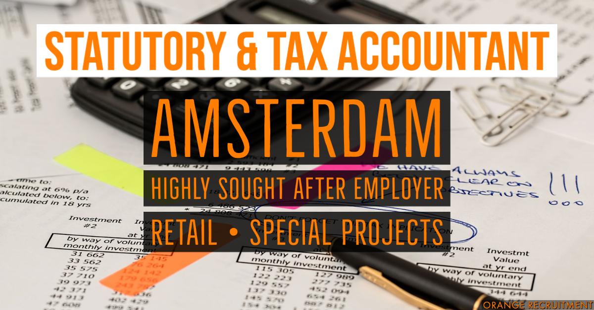 Statutory and Tax Accountant temp vacancy amsterdam
