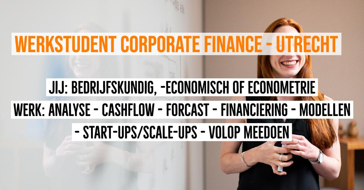 werkstudent corporate finance utrecht